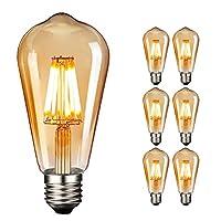♚ NUODIFAN Vintage Edison LED Glühbirne Serie - Die Leuchtmitteln besitzen die Energieeffizienzklasse A+, Ersetzt 80W Traditionelle Glühbirne, haben bis zu 90% Energieeinsparung im vergleich zu herkömmlichen Leuchtmitteln. ♚ Das licht ist ideal, um e...