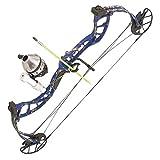 PSE ARCHERY D3 Bowfishing Compound Bow-Kit-Set-Arrow - Right Hand - Blue DK'D - 30-40