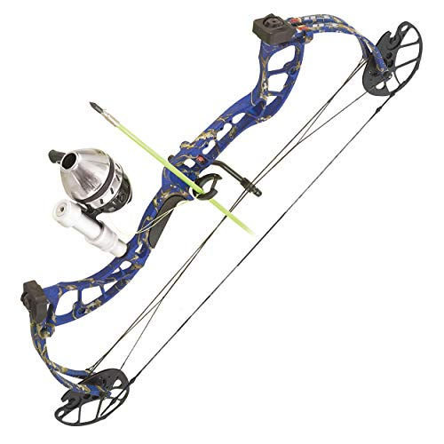 PSE ARCHERY D3 Bowfishing Compound Bow-Kit-Set-Arrow - Right Hand - Blue DK'D - 30-40