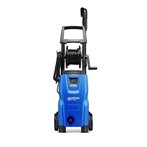 Nilfisk Hidrolimpiadora 128471166 C-PG 135 bar con control PowerGrip, limpiadora de agua a presión para hogar, exteriores y limpieza de coches, 1500 W, Plástico, Negro/azul
