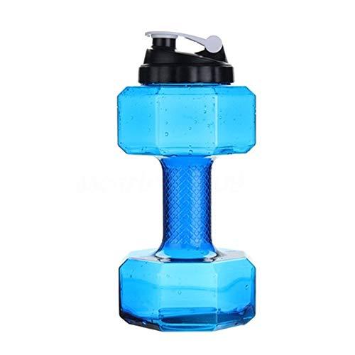 SKK Capacitación 2.2L Water Dumbbells Kettle Gym Fitness Pérdida de Peso Entrenamiento Push Cap Botellas de Agua Ejercicio Fitness Equipment Ejercicio (Color : Blue)