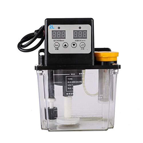 Bomba de aceite de engrase CNC, 220 V, eléctrica, automática, de aceite lubricante 2L, con grabado NC-CNC, sin pantalla digital