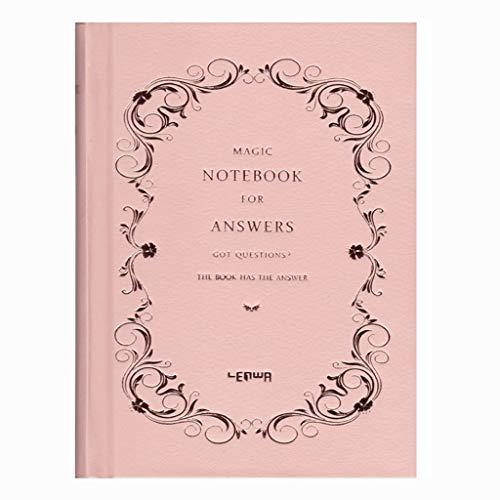 QIFFIY Cuaderno Diario Papelería estudiantil Bloc de Notas Simple Espesar Creativo Corea Pequeño Diario Fresco Cuaderno Retro Notebook (Color : Pink)