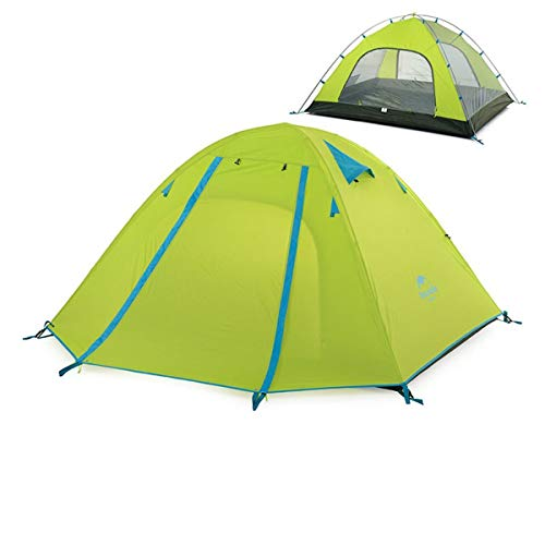 Azarxis 1-2-3-4 Persone/Posti Tenda da Campeggio, 3 Stagioni Tenda Parasole Ultraleggera da Montagna Spiaggia Trekking Escursionismo (Verde, 1 - 2 Persone)