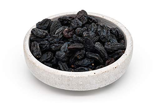 Pasas de Bukhara de comercio justo orgánicas negras – 1 kg – Sin enmarcar, sin azúcar y sin sulfurar – Secado a la sombra – crudos – De Uzbekistán