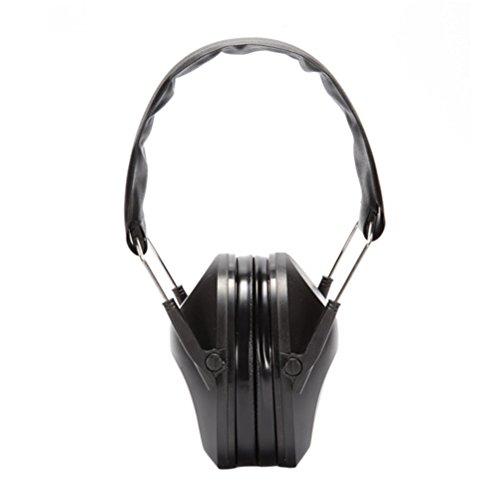 LEDMOMO – Professioneller Gehörschutz für die Jagd für Kinder, Kleinkinder, Erwachsene, Frauen, Schwarz