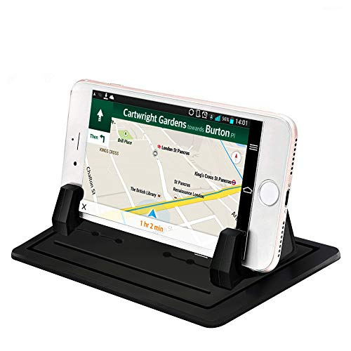 スマホホルダー シリコン製スマホ車載ホルダー GPS用クリップホルダー 滑り止め スマホスタンド 水洗い可 ダッシュボード/卓上など適用 iPhone・Android 各種スマートフォン インチまで多機種対応 GPS ナビ用 車載ホルダー