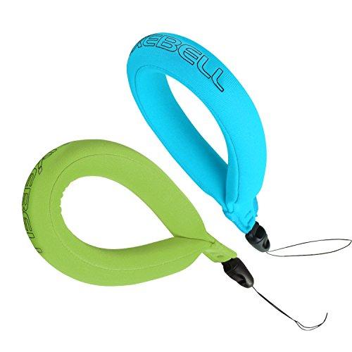 Luxebell® Waterdichte Camera Drijvende Polsband voor Uw Onderwater Camera Compatibel met Gopro, VTech Kidizoom Action Cam, Marine Verrekijker, Camcorders en Telefoons (Pack van 2), Blue+Green