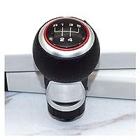 車のギアレバーヘッド 12ミリメートル5 6速ギアシフトノブレバースティックアウディA4 B6 B7 B8 A6 S4 8K A5 8T Q5 8R ギアシフトノブギアスティック (Color : 赤, サイズ : R12345)