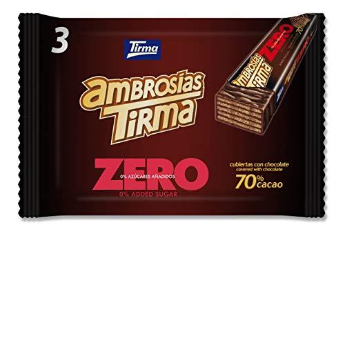 Tirma Ambrosías Zero 70% Cacao, Sin Azúcares Añadidos (3 Unidades x 21.5g) 64.5g
