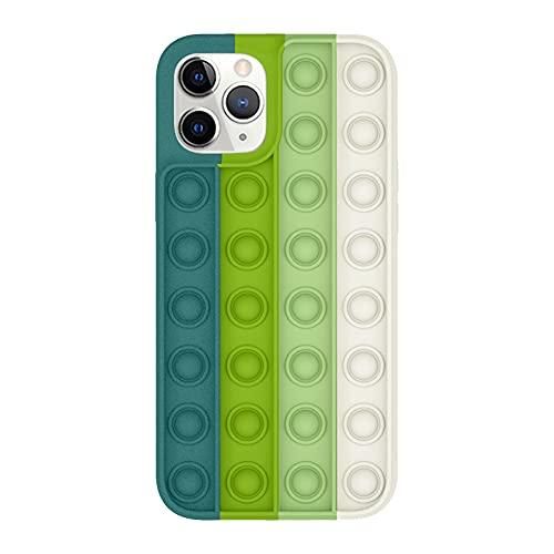 BoBoLily, Squeeze Sensory Schutzhülle, Stressabbau, Fidget Toy Push Bubble Phone Case für iPhone 11 Pro