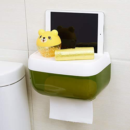 Joeesun Tissue-Box frei Stanzpapier Toilettenpapier Tablett kreative Rollenpapier Box Handpapier Toilettenpapier Regal, große einlagige grüne T282