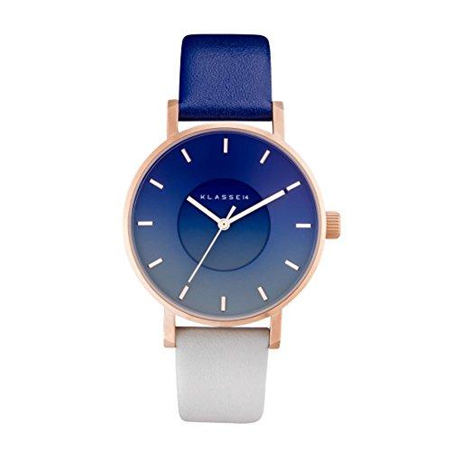 クラス14 KLASSE14 腕時計 VOLARE SKY MIDNIGHT 36mm ネイビー × グレー × ローズゴールド レザー