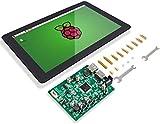 SUNFOUNDER Raspberry Pi 10.1' Display Touchscreen 10.1 Zoll IPS LCD HDMI 1280x800 for Raspberry Pi 4B 3B+ 2 Model B and RPi 1 B+ LattePanda Beagle Bone (MEHRWEG)