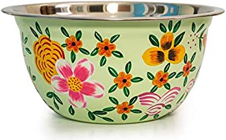 Hand Painted Serving bowl and Mixing Bowl - Stainless Steel Bowl Design by Indian Artisans for Candy bowl or Rice bowl