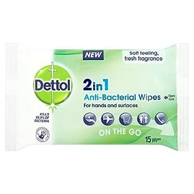 DETTOL 2-In-1 Antibac Wipes, 15 wipes from Reckitt Benckiser