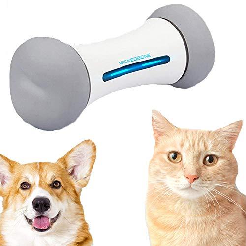 mnzncrfee Wickedbone Fernbedienung Haustierspielzeug, APP-Steuerung virtuelle Wippe interaktives Spielzeug Smart Hundeknochen Haustierspielzeug