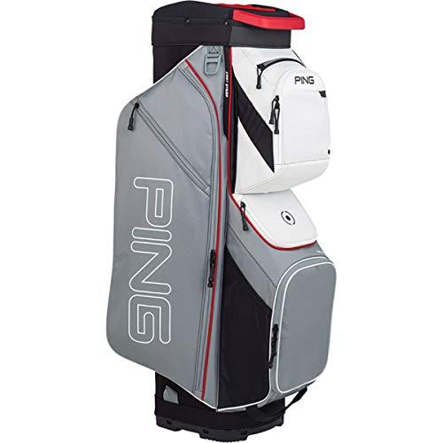 PING New 2019 Traverse 191 Silver/Scarlet/White 14-Way Golf Cart Bag