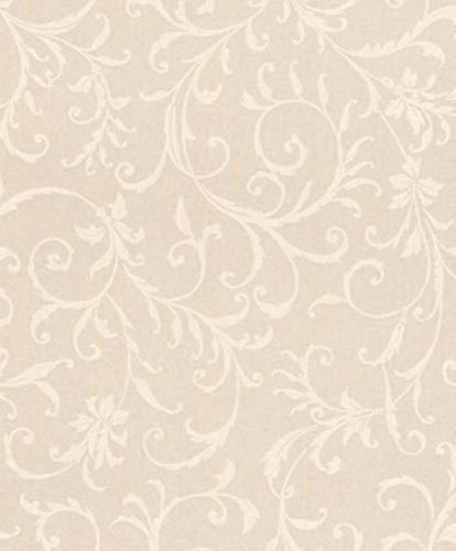 Casa Padrino Barock Textiltapete Creme 10,05 x 0,53 m - Tapete im Barockstil - Deko Accessoires