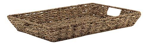 Decorasian Tablett rechteckig geflochten aus Seegras - Vintage Style