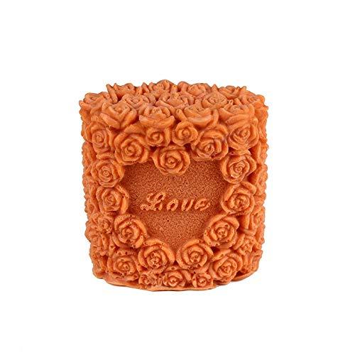 wangdazhaung Molde De Silicona De Corazón Rosa para Hacer Herramientas De Decoración De Velas De Jabón para El Día De San Valentín, Aproximadamente 1 Kg