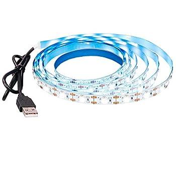 KXZM USB LED Strip Light Daylight White 5V USB Powered 13.2ft 240LEDs Flexible SMD2835 High Brightness 6000-6500K No-Waterproof IP33 LED Tape Lights 2pcs x 6.6ft
