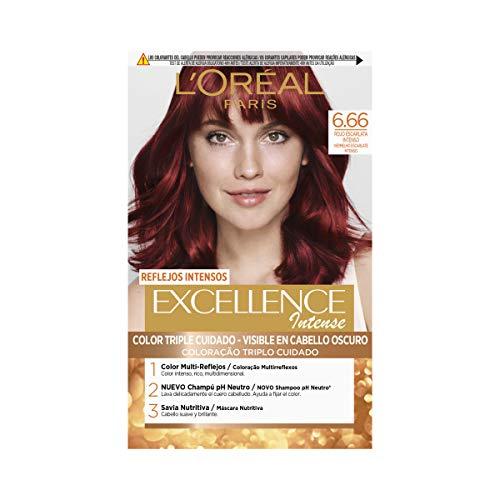 L Oréal Paris Excellence Intense Coloración, Tono: 6,66 Rojo Escarlata Intenso