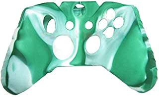 OSTENT Capa protetora colorida de silicone macio compatível com controle Microsoft Xbox One – Cor verde e branca