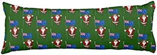 rfy9u7 20x54 Long Body Pillow Cover Santa Claus with Ensign of New Zealand Pregnancy Lumbar Pillow Case