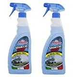 Rhutten 2x750ml Spray Antighiaccio Auto Casa Pulizia Parabrezza Scioglie Ghiaccio e Previene - Made in Italy