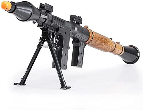 GDYJP Spielzeug Militärsoldat Anti Tank Raketenwerfer, Emission 2 Stück Schaum Schwamm Sicherheit Raketen Spielzeug
