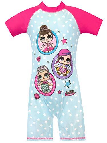 LOL Surprise Bañador para Niña muñecas Azul 4-5 Años