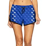 dassdd Women Beach Pants Kentucky Wildcats Basketball Blue Camo...
