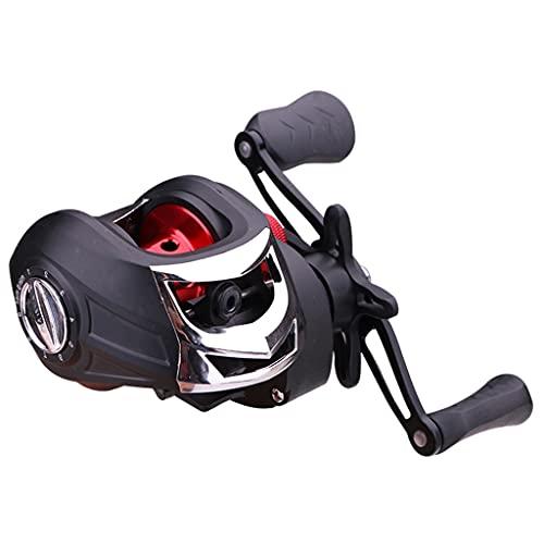 Sharplace Carretes Baitcasting, Carrete de Pesca de Diseño Compacto, Arrastre de 11LB, Sistema de Frenado Magnético, Relación de Transmisión 7.1: 1 - Mano Izquierda