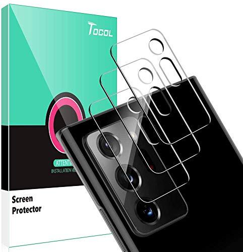 TOCOL [3 Stück] Panzerglas Kamera für Samsung Galaxy Note 20 Ultra 5G Kamera Schutzfolie Linse, [9H Festigkeit] [Blasenfrei] [2.5D Rand] HD klar Folie gehärtetes Glas