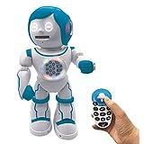 Powerman Kid-Robot éducatif Bilingue Parlant Français et Anglais avec Télécommande Joystick-Jouet Programmable, Dance, Joue de la Musique,Raconte des Histoires 450+ Quiz,Lance des Disques 4+-ROB90FR