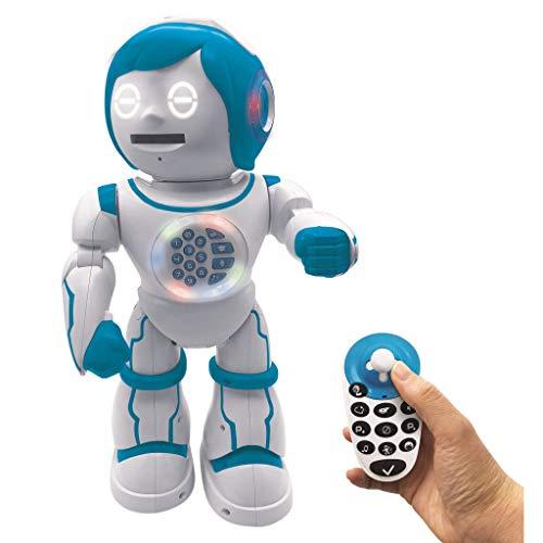 Powerman Kid-Robot éducatif Bilingue Parlant Français et Anglais avec Télécommande Joystick-Jouet Programmable, Dance, Joue de la...
