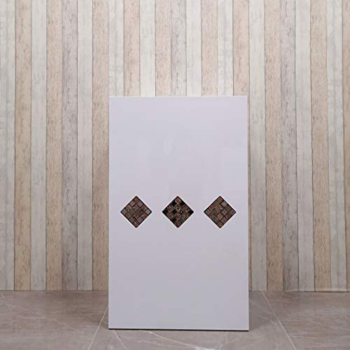 Mesa de Oficina Mostradores para Tiendas o Recepción Mueble Blanco con Rombos de Piedras en el Centro