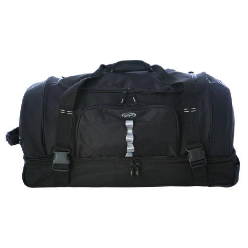 Olympia Luggage 30' Rollling Duffle,Black,One Size