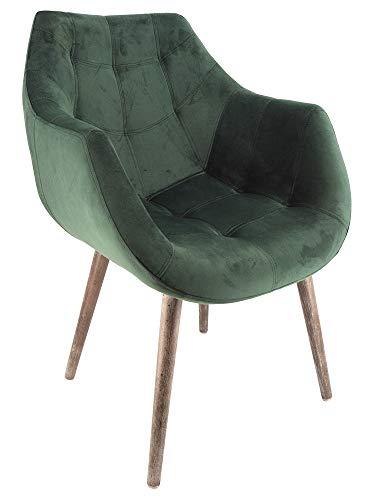 Vintage-Line Design Schalensessel Chuck Green Samt grün Designsessel Sessel