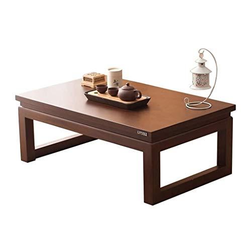 Vintage meubelen, massief houten Rectangle Japanse stijl Coffee Table huis Balkon Vensterbank theetafel (Size : 60 * 40 * 25cm)