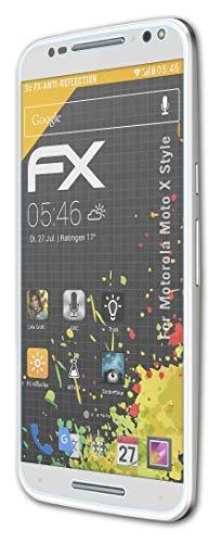 atFolix Panzerfolie kompatibel mit Motorola Moto X Style Schutzfolie, entspiegelnde & stoßdämpfende FX Folie (3X)