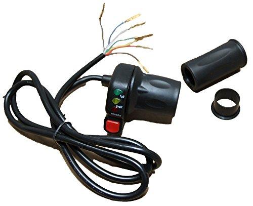 Manguito aceleración, Acelerador giratorio 36V con ECO Botón Piezas de repuesto para SXT Scooter Eléctrico