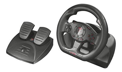 pc gaming 580 Trust GXT 580 Volante da Corsa con Feedback a Vibrazione per PC e PS3