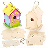 Baker Ross Mini pajarera de madera, casas para pintar y decorar para niños artes y...