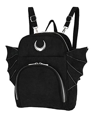 Restyle Elegant Goth Moon Bat Backpack