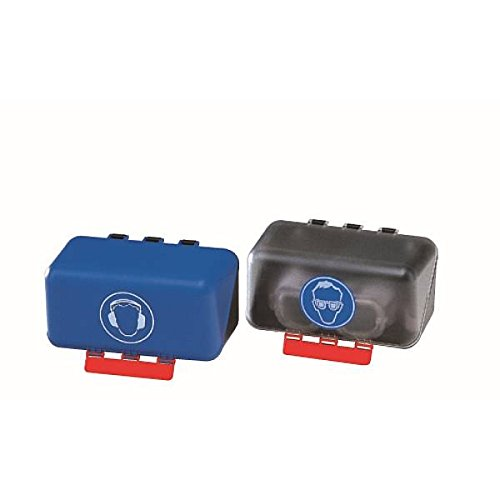 LEMAX® SecuBox für Schutzbrillen (blau) für 1 Brille, 236x120mm