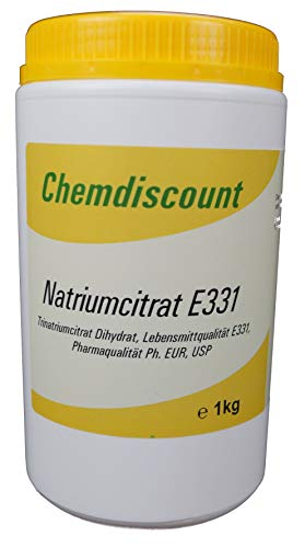 1kg Natriumcitrat (Trinatriumcitrat-Dihydrat, TNC), Pharmaqualität und Lebensmittelqualität E331