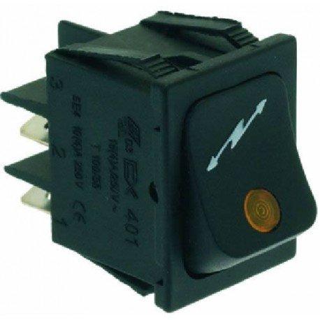 INTERRUTTORE BIPOLARE NERO 16A 250V Cod. 1319862