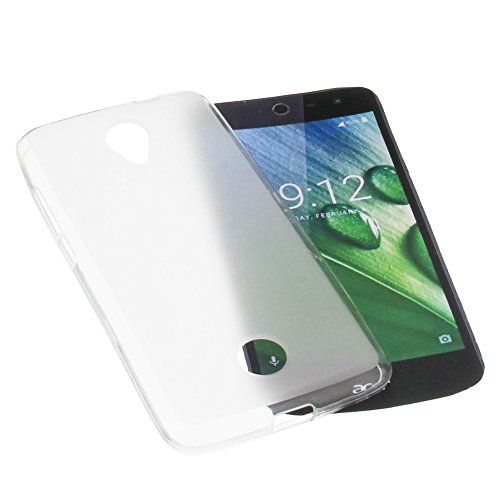 foto-kontor Tasche für Acer Liquid Jade Zest Gummi TPU Schutz Handytasche milchig transparent